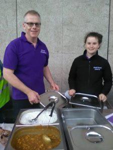 Feeding the homeless in Dublin