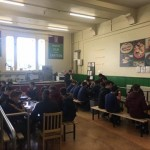 Students enjoying a lunch served by David Smyth Catering